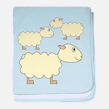 Three Sheep. baby blanket