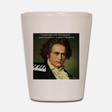 Beethoven Graphic Poetry Quote Shot Glass
