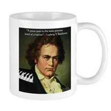 Beethoven Graphic Poetry Quote Mug