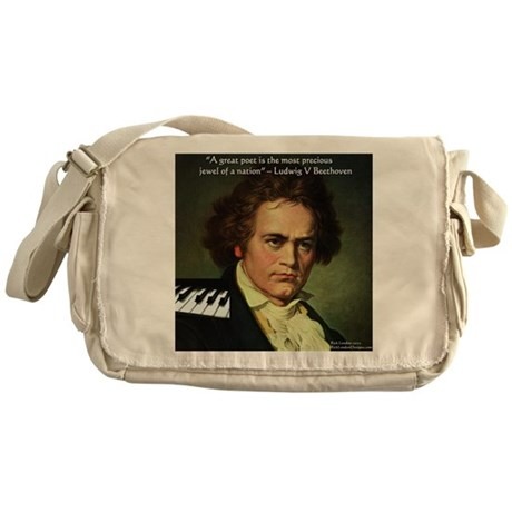 Beethoven Graphic Poetry Quote Messenger Bag