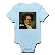 Beethoven Graphic Poetry Quote Infant Bodysuit