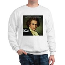 Beethoven Graphic Poetry Quote Sweatshirt