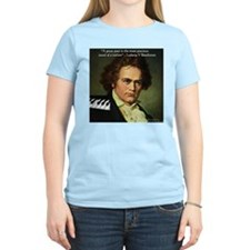 Beethoven Graphic Poetry Quote T-Shirt