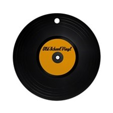 Old School Vinyl Record Ornament (Round)