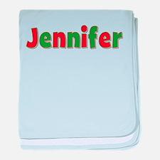 Jennifer Christmas baby blanket
