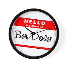 Ben Dover Wall Clock