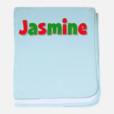 Jasmine Christmas baby blanket