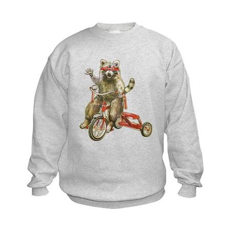 Raccoon Biker Gang Kids Sweatshirt