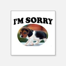 "SORRY PUPPY Square Sticker 3"" x 3"""