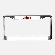 Jakob Christmas License Plate Frame