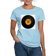Vinyl Record Women's Pink T-Shirt