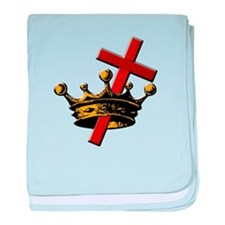 Cross and Crown baby blanket