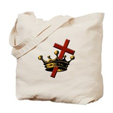 Cross and Crown Tote Bag