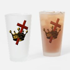Cross and Crown Drinking Glass