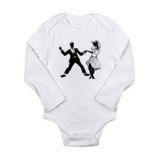 Swing Dancers Long Sleeve Infant Bodysuit
