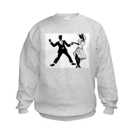 Swing Dancers Kids Sweatshirt