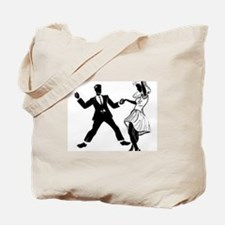 Swing Dancers Tote Bag