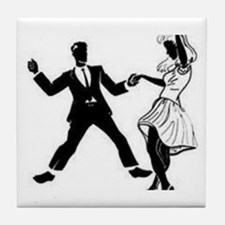 Swing Dancers Tile Coaster
