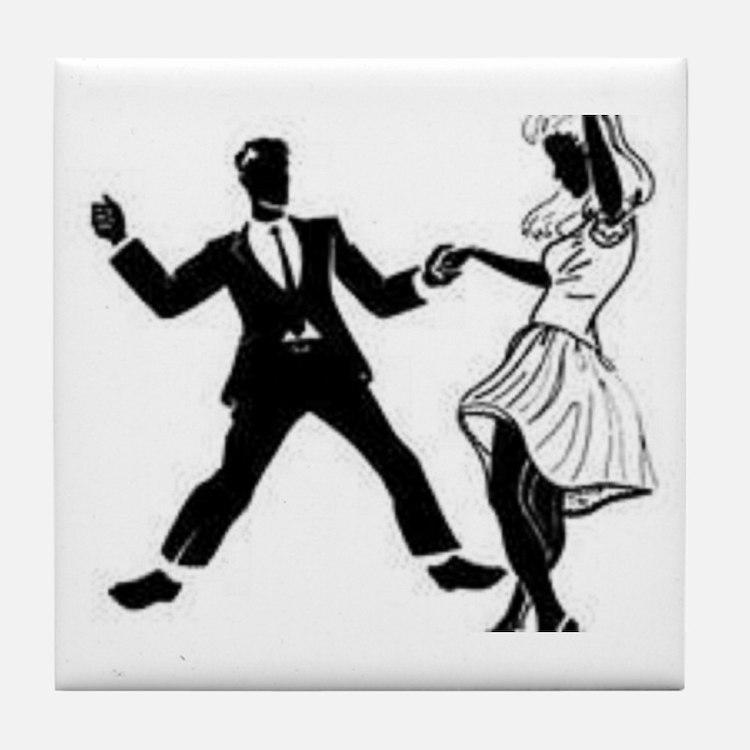 Swing Dancers Tile Coaster