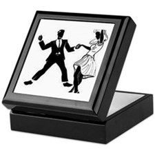 Swing Dancers Keepsake Box