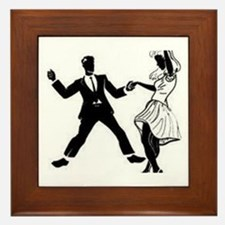 Swing Dancers Framed Tile