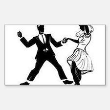 Swing Dancers Decal