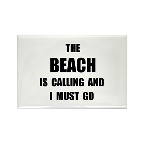 Beach Calling Rectangle Magnet (100 pack)