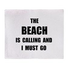 Beach Calling Throw Blanket