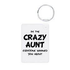 Crazy Aunt Aluminum Photo Keychain
