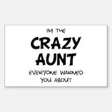 Crazy Aunt Sticker (Rectangle 10 pk)