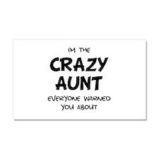 Crazy Aunt Car Magnet 20 x 12