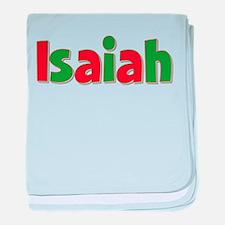 Isaiah Christmas baby blanket