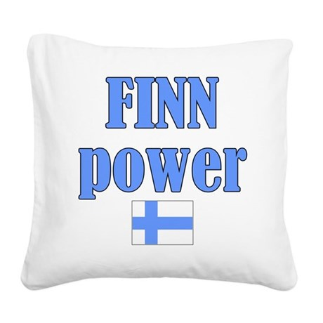 finnp.png Square Canvas Pillow