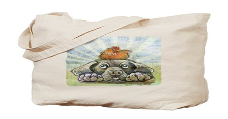 The Chicken and the Dog Tote Bag