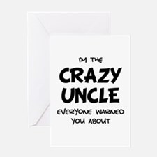 Crazy Uncle Greeting Card