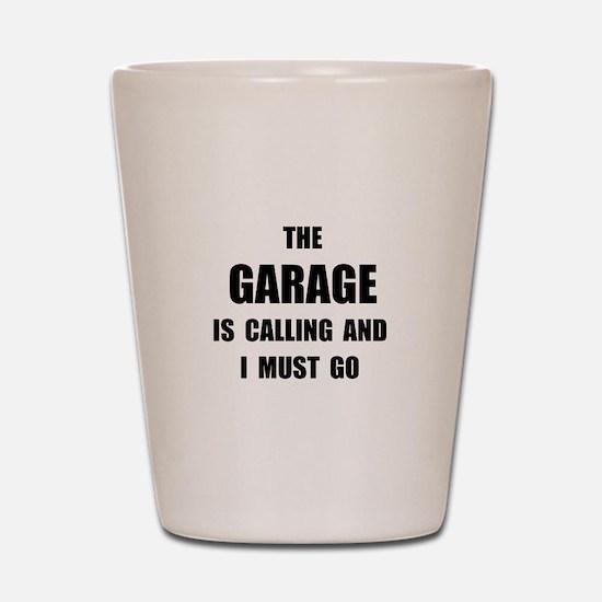 Garage Calling Shot Glass