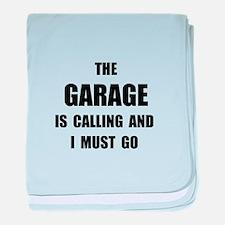 Garage Calling baby blanket
