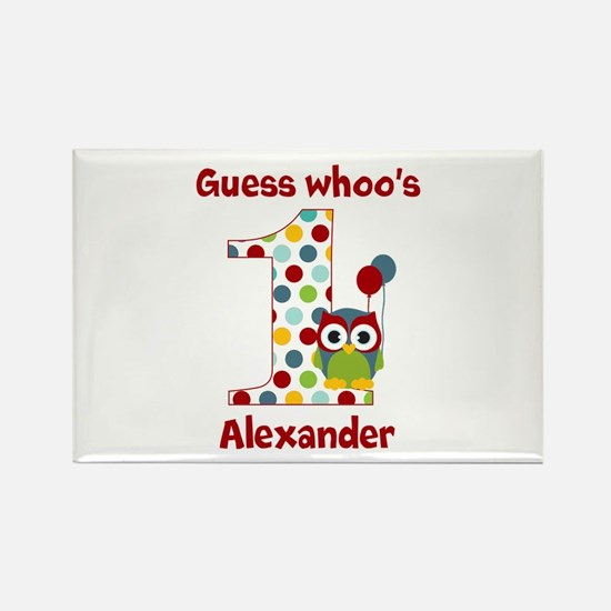 Custom guess whos 1 boy Rectangle Magnet