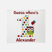 Custom guess whos 1 boy Throw Blanket