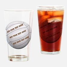 Beach Volleyball Drinking Glass