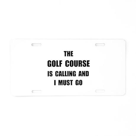 Golf Course Calling Aluminum License Plate