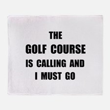 Golf Course Calling Throw Blanket