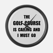 Golf Course Calling Large Wall Clock