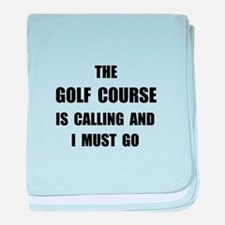 Golf Course Calling baby blanket