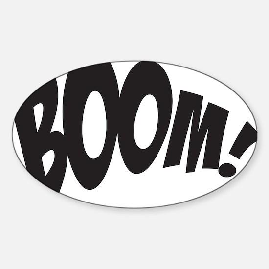 BOOM! Sticker (Oval)