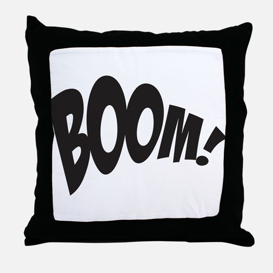BOOM! Throw Pillow