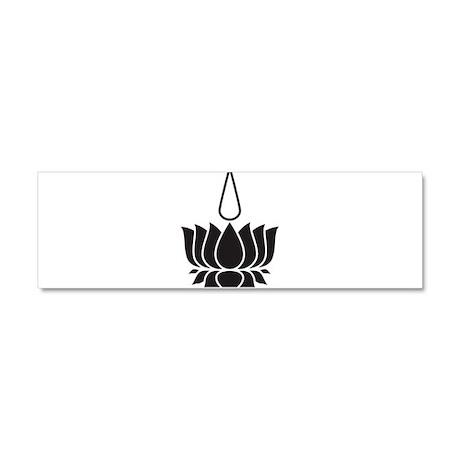 Lotus Flower Car Magnet 10 x 3