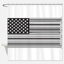 Capitalist Flag Shower Curtain