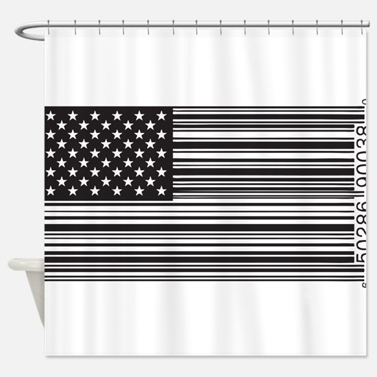 Capitalist Flag Shower Curtain