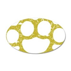Brass Knuckles 20x12 Oval Wall Decal